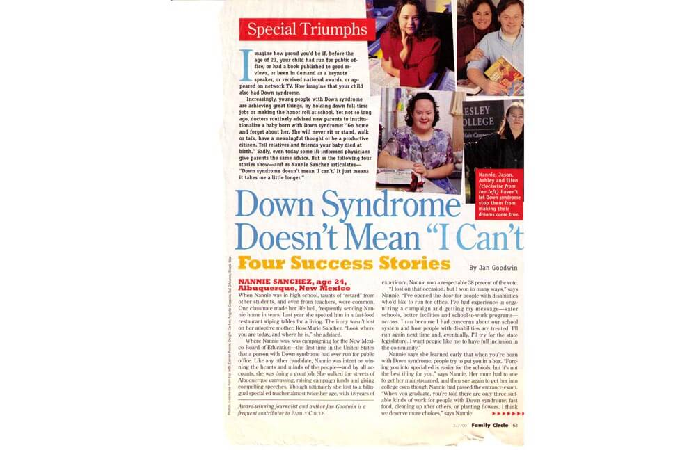 DOWN SYNDROME — FAMILY CIRCLE MAGAZINE