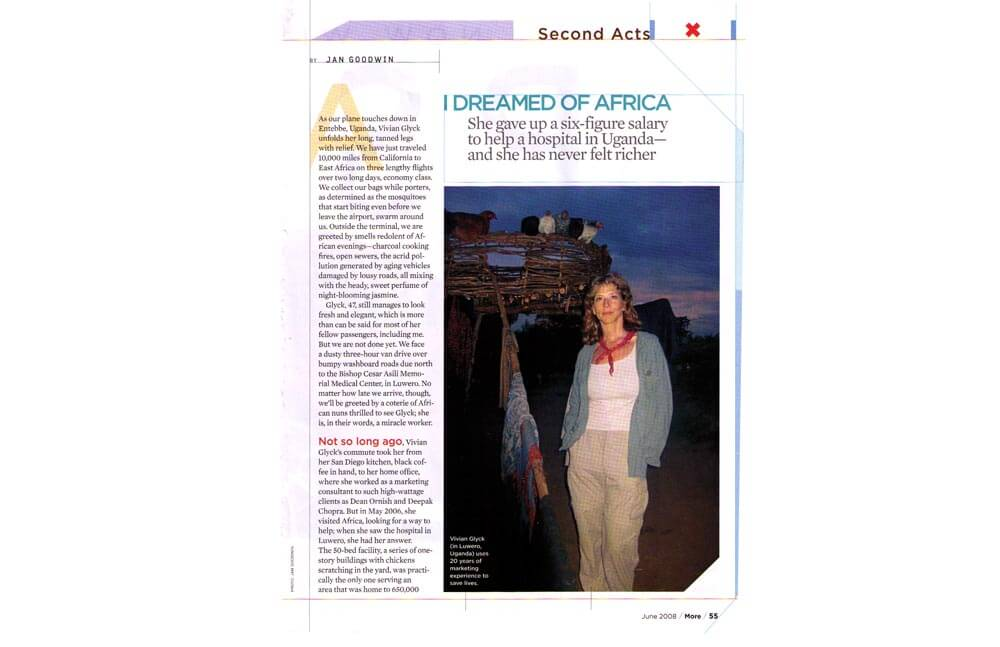 I DREAMED OF AFRICA — MORE MAGAZINE