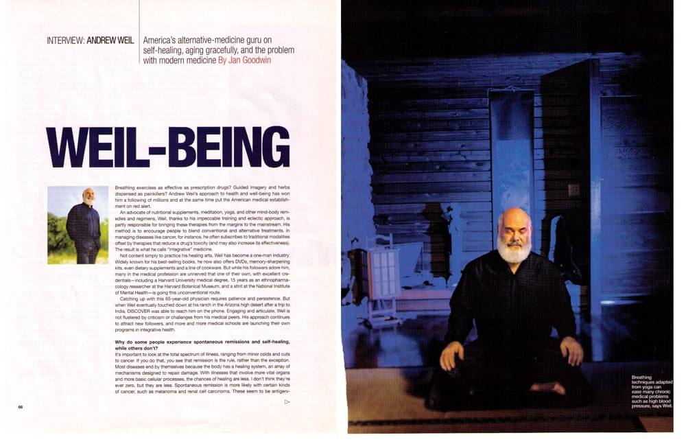 WEIL BEING — DISCOVER MAGAZINE