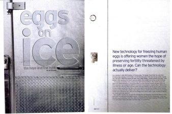 EGGS ON ICE — CONCEIVE MAGAZINE