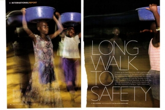 LONG WALK TO SAFETY — MARIE-CLAIRE MAGAZINE